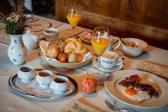 Frühstück im Hotel zur Post in Alpbach