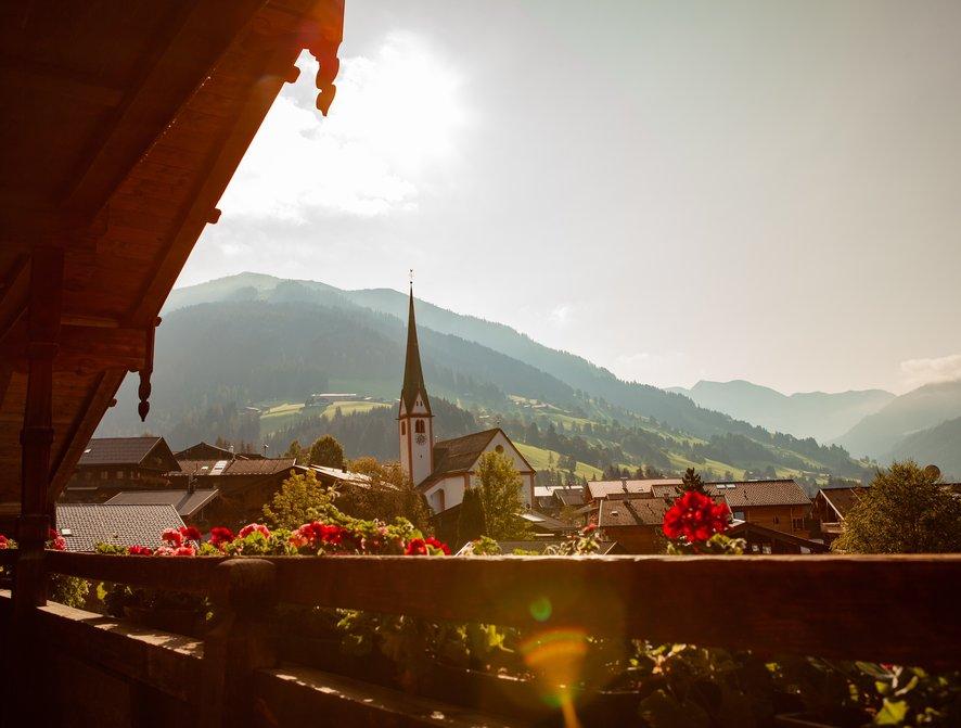 Ausblick vom Balkon im Hotel zur Post in Alpbach